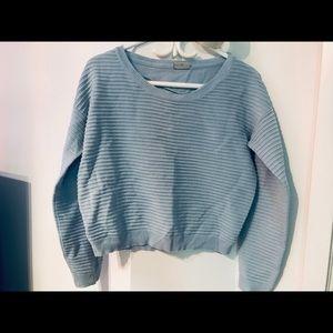 Noisy May Sky Blue Ribbed Sweater - Medium
